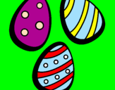 Coloriage Œufs de Pâques IV colorié par flavio