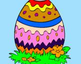 Coloriage Œuf de Pâques 2 colorié par GABRIELA