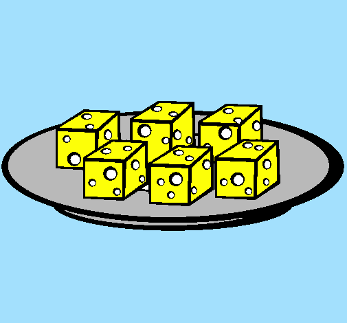 <span class='hidden-xs'>Coloriage de </span>Fromages à colorier