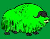 Coloriage Bison colorié par alex