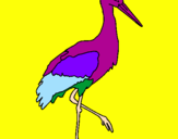 Coloriage Cigogne  colorié par cierbo