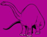 Coloriage Braquiosaure II colorié par anonyme