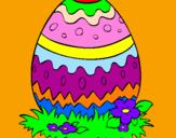 Coloriage Œuf de Pâques 2 colorié par agata