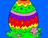 Coloriage Œuf de Pâques 2 colorié par marina