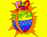 Coloriage Œuf de Pâques brillant colorié par marina