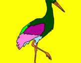 Coloriage Cigogne  colorié par jade