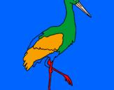 Coloriage Cigogne  colorié par charles