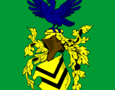 Coloriage Blason et aigle  colorié par giada tiozzo