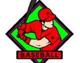 Coloriage Logo de base-ball colorié par shany