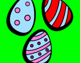 Coloriage Œufs de Pâques IV colorié par gabriela