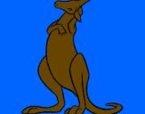 Coloriage Kangourou colorié par julieta va