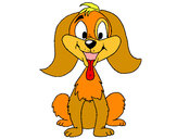 Coloriage Petit chien joueur colorié par Titi2010