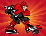 Coloriage Joueur de hockey professionnel colorié par SHWINZOV