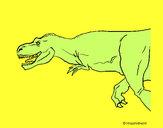 Coloriage Tyrannosaurus Rex colorié par thuthu