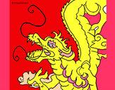 Coloriage Dragon japonais colorié par ophelie