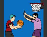 Coloriage Joueur en défense colorié par Nirass