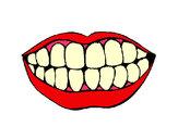 Coloriage Bouche et dents colorié par remycars