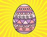 Coloriage Œuf de Pâques décoré colorié par mastin