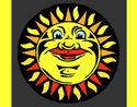 Coloriage Soleil gravé colorié par KAKE