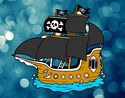 Coloriage Pirate bateau colorié par kpmv