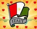 Coloriage Drapeau de l'Italie colorié par loya