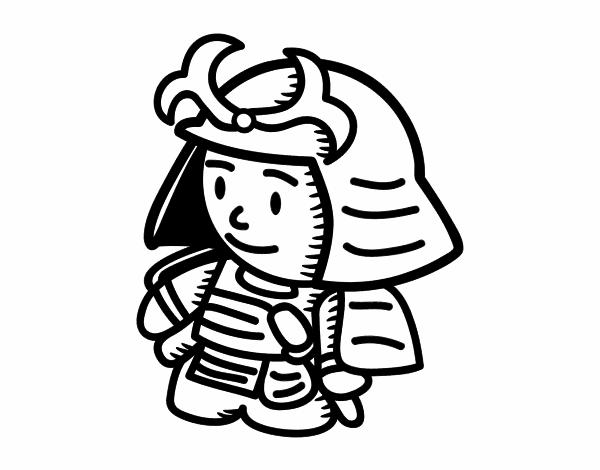 Samouraï avec armure