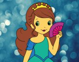 Princesse et éventail
