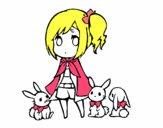La jeune fille à lapins