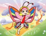 Fée papillon content