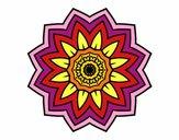Mandala fleurs de tournesol