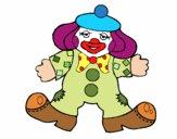 Coloriage Clown aux grands pieds colorié par ophelie