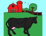 Coloriage Vache en train de paître colorié par julesdetou