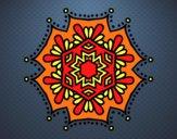 Mandala fleur symétrique