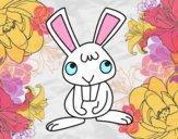 Petit lapin heureuse