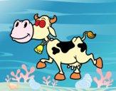 Coloriage Vache laitière 1 colorié par julesdetou