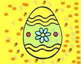 Œuf de Pâques marguerite