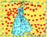 Coloriage Princesse et chaussure colorié par lolarascle