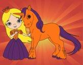 Coloriage Princesse et licorne colorié par lolarascle