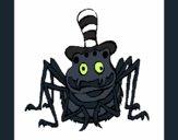 Coloriage Araignée avec chapeau colorié par KAKE2