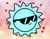 Soleil avec des lunettes