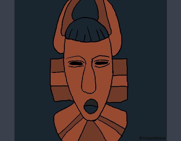 Coloriage Masque africain colorié par KAKE2