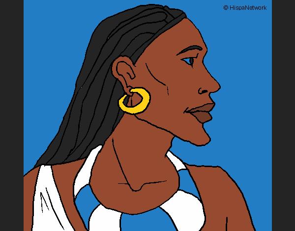 Coloriage Mozambicain colorié par KAKE2