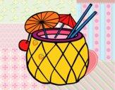 Coloriage Cocktail ananas colorié par jeremy0606