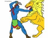 Gladiateur contre lion