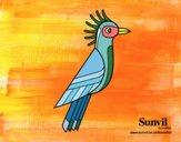 Coloriage Hoazin colorié par loucraig