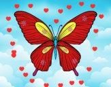 Coloriage Papillon tropical colorié par bernard