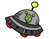 Extraterrestrial en vaisseau spatial