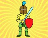 Chevalier avec épée et bouclier