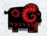 Coloriage Signe du chèvre colorié par raphael