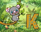 Coloriage K de Koala colorié par raphael